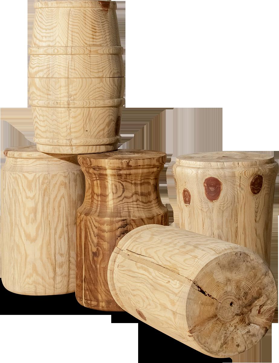 Σκαμπό από ατόφιο ξύλο