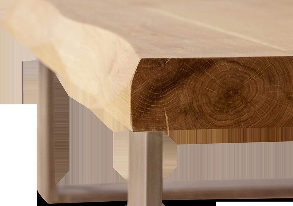 Ξύλινο τραπεζάκι με μεταλλικά πόδια