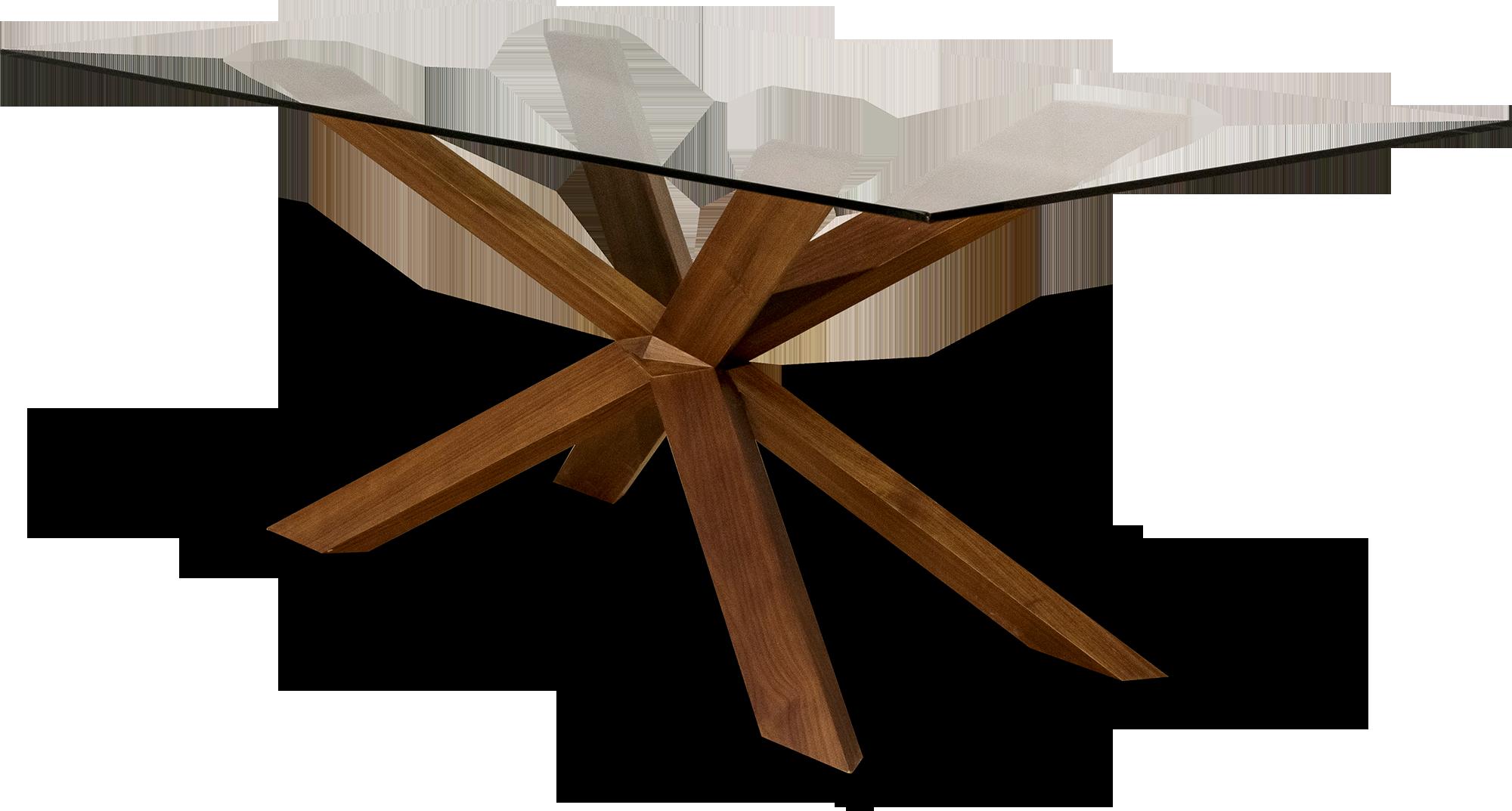 Τραπεζαρία με κρύσταλλο και ξύλινα πόδια