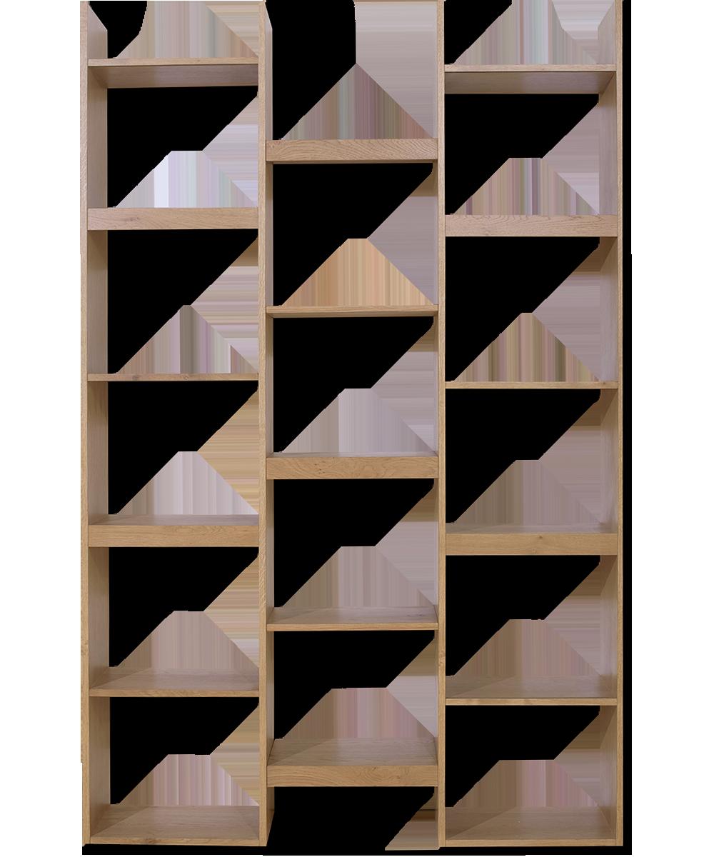 Βιβλιοθήκη από δρυς alkistis
